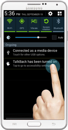 how to turn off talkback on samsung