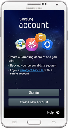 How to change samsung account